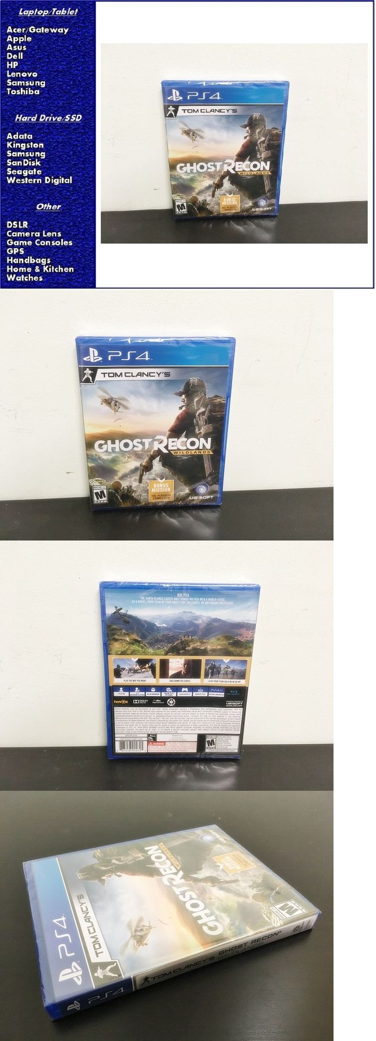 Video Gaming: New Tom Clancy Ghost Recon: Wildlands Playstation 4, Factory Sealed -> BUY IT NOW ONLY: $42 on eBay!