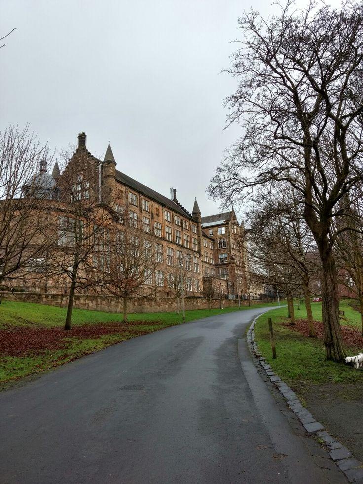 Шотландия Глазго университет архитектура Scotland Glasgow Uni park architecture