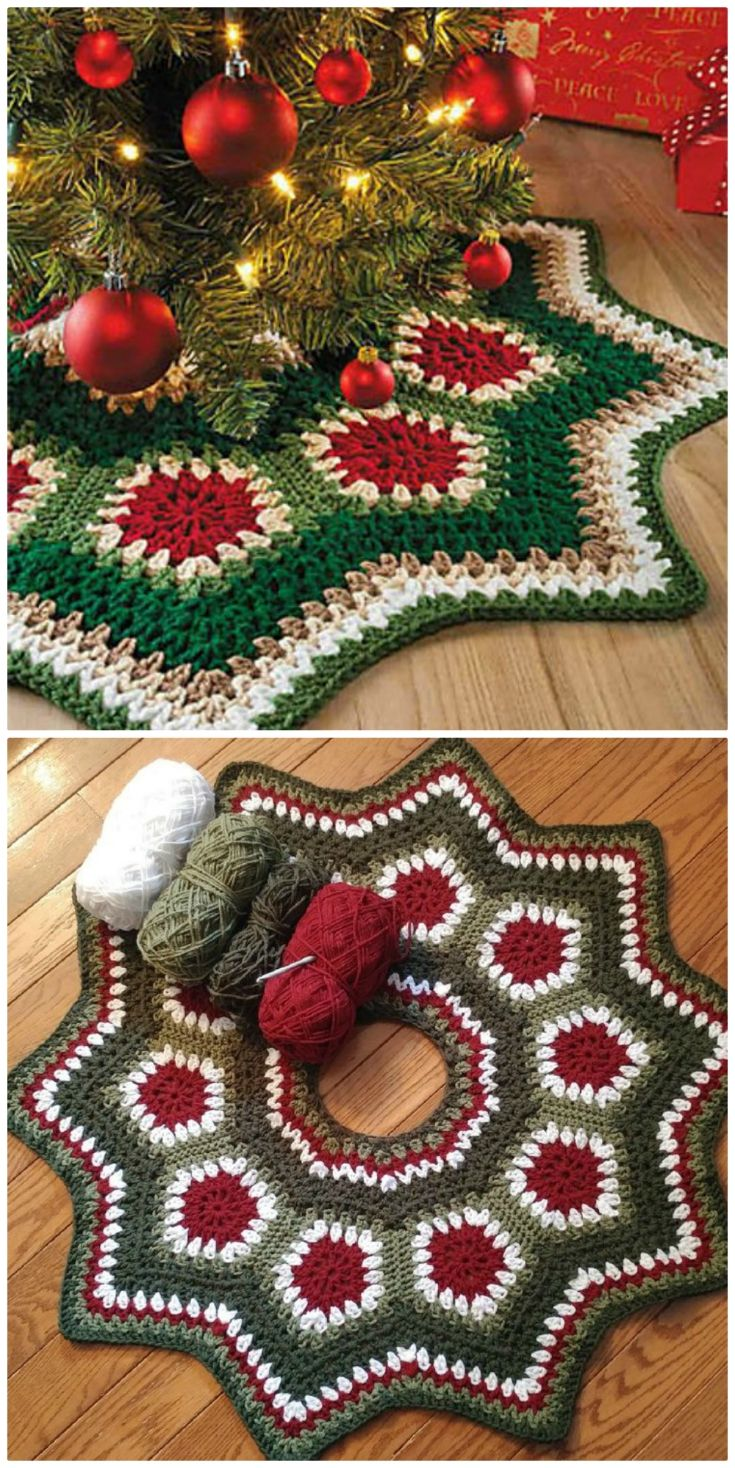 Crochet Christmas Tree Skirt Patterns The Whoot The Whoot Christmas Tree Skirts Patterns Christmas Crochet Patterns Tree Skirt Pattern