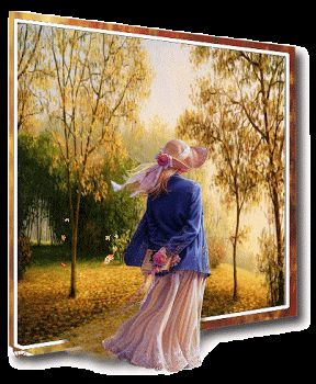 Осенние пейзажи на открытках. Cтраница 13