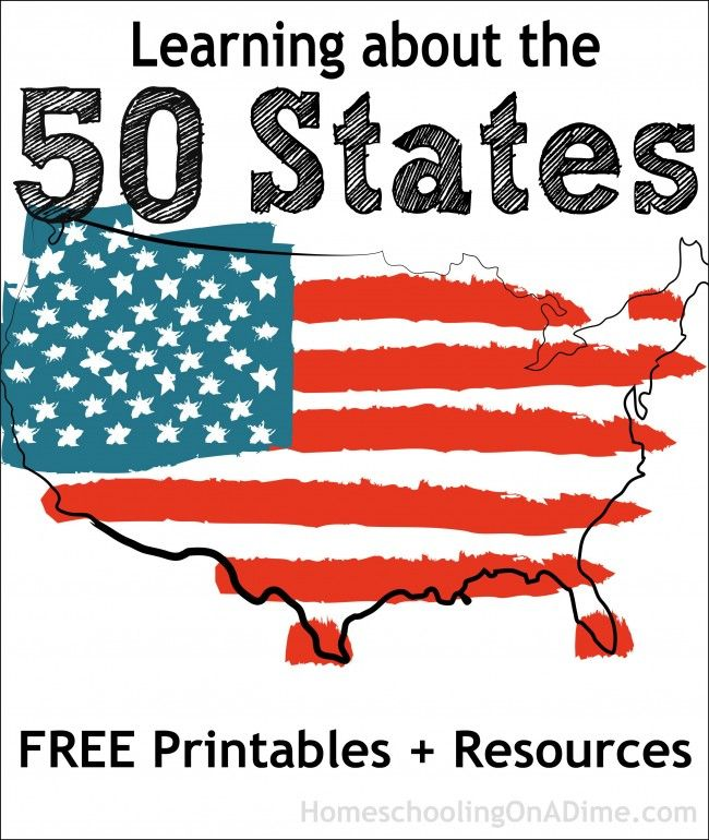Learning about the 50 States: FREE Printables + Resources for State Studies