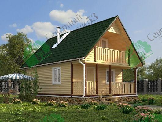 """#house #бани_из_бруса #строительство_домов  #homedesign #lifestyle #style #architecture #баня  Баня из бруса 6х9 с мансардой Проект """"Анжелика"""""""