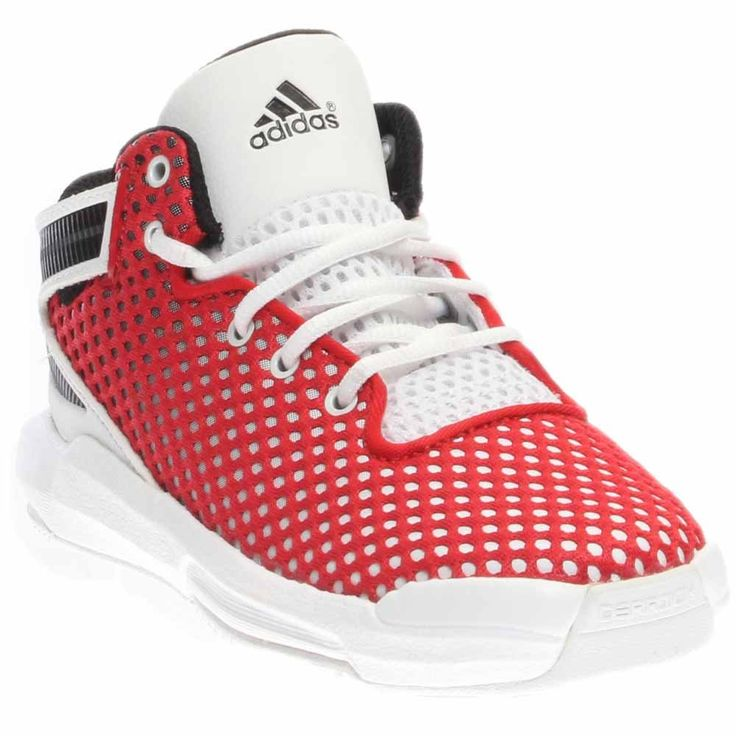 adidas Performance D Rose 6 I Shoe (Infant/Toddler), Scarlet/White