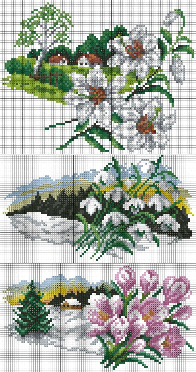 Paysages nature (broderie) calendrier floral.