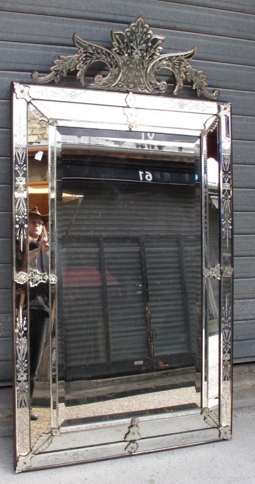 Miroir v nitien fronton grande taille a abc pascal for Miroir baroque grande taille