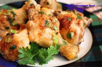 蔥油燒雞腿