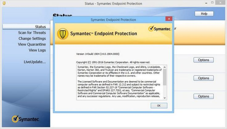 Symantec Endpoint Protection Screenshot Protection Informative Osx