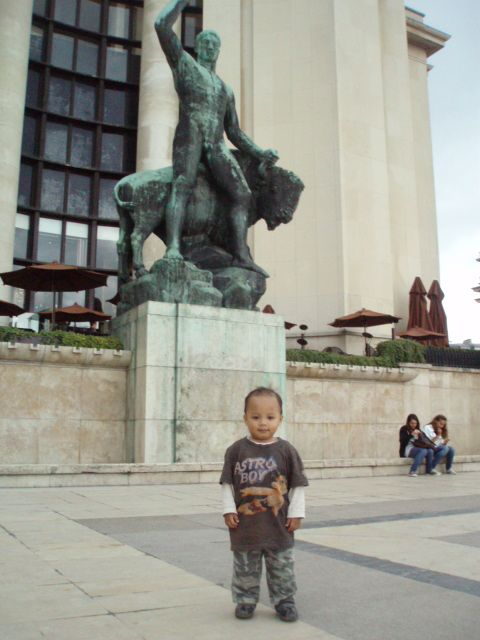 My Son Faisar in Paris.