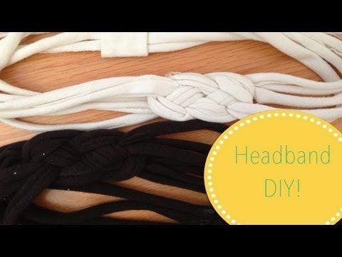 ▶ ✄ DIY T-Shirt Headband ✄ - YouTube
