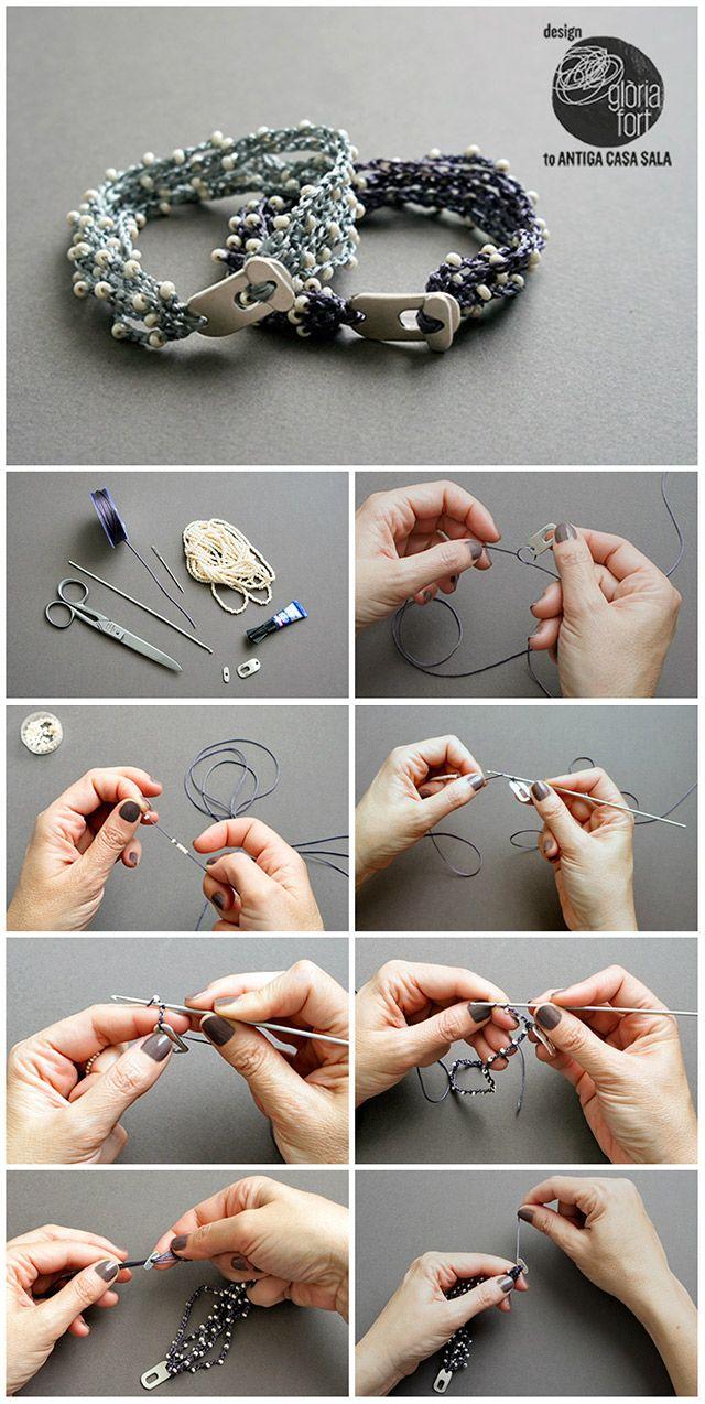 Pulsera fácil de crochet | Manualidades