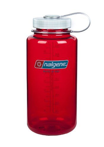 Nalgene Tritan Wide Mouth BPA-Free Water Bottle, 1-Quart, Outdoor Red with Platinum Lid - http://nothingbutsportsonline.com/sports-outdoors/accessories/sports-water-bottles/nalgene-tritan-wide-mouth-bpafree-water-bottle-1quart-outdoor-red-with-platinum-lid-com/