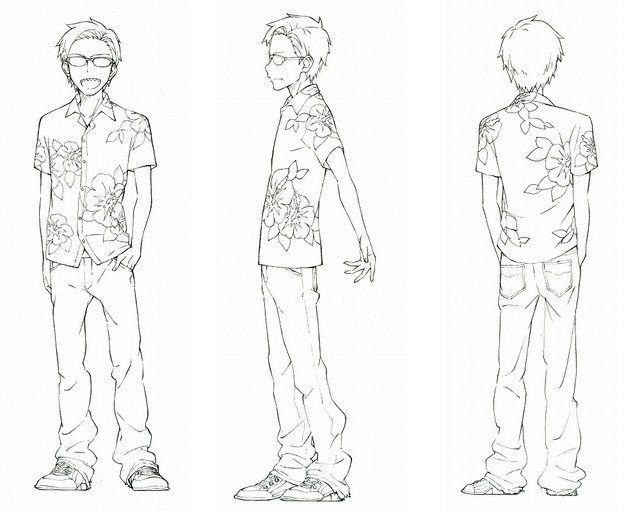 D Amp D Character Design Sheet : Dagashi kashi anime character design tou endou