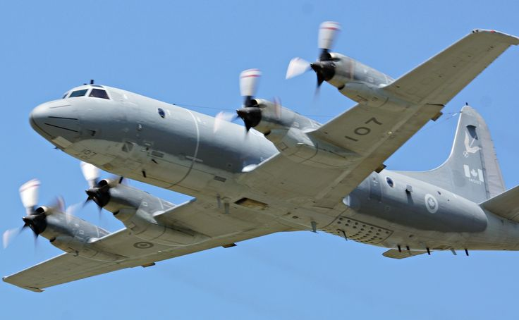 Royal Canadian Air Force CP-140 Aurora on a low level pass at the 2013 Hamilton Airshow.