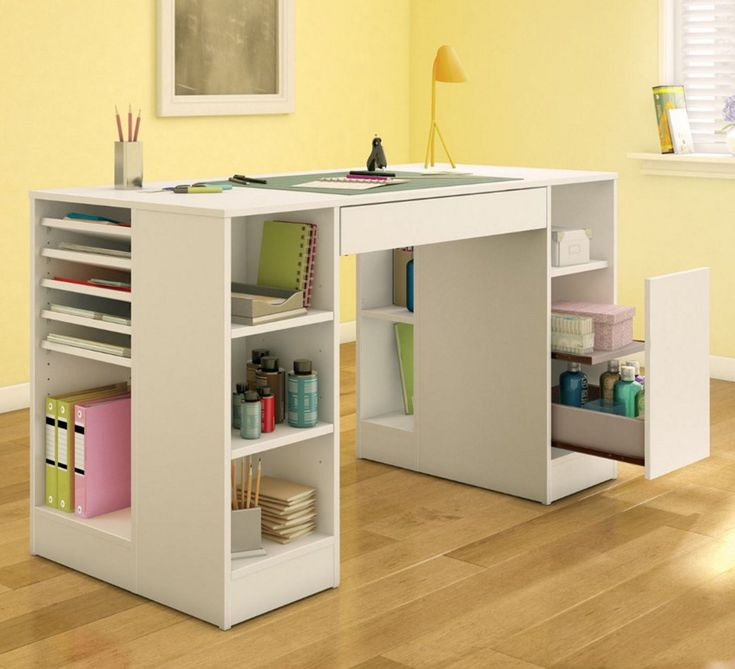 craft table with storage ideas