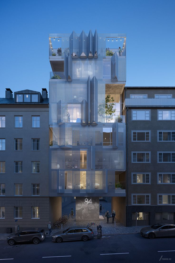 15_Tomorrow_Innovative residential building in Stockholm, Sweden, with different facade patterns from around the world