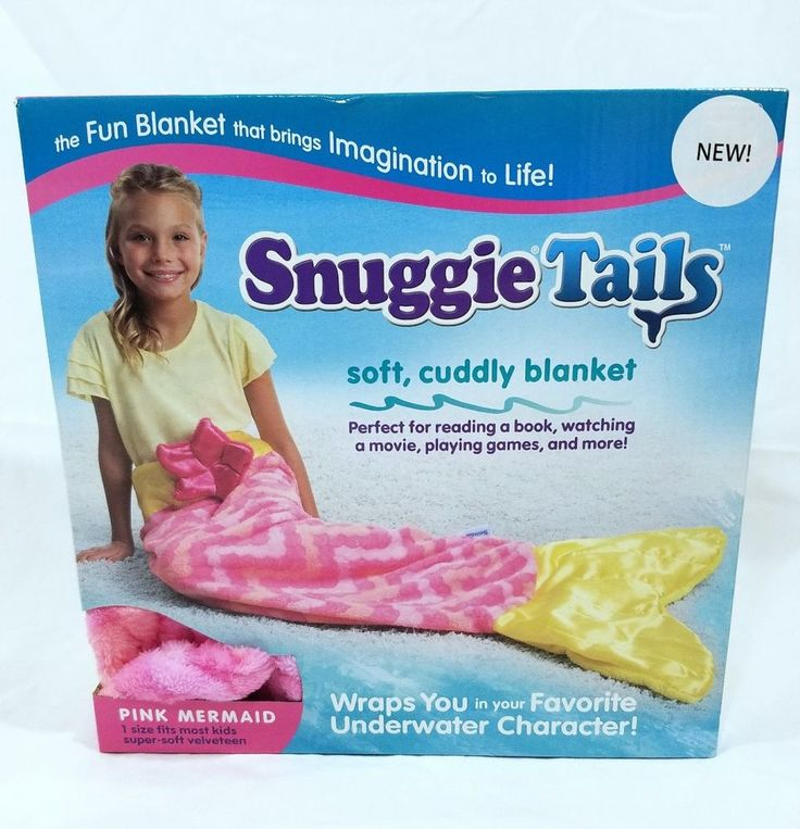 Snuggie Tails Pink Mermaid Tail Blanket Throw NEW #Snuggie