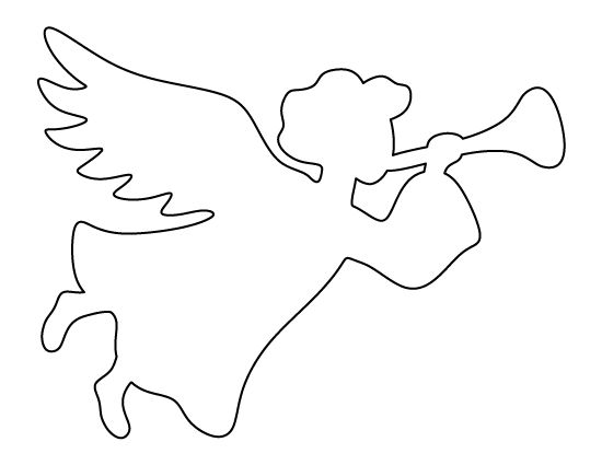 Christmas angel pattern. Use the printable outline for crafts, creating stencils, scrapbooking, and more. Free PDF template to download and print at http://patternuniverse.com/download/christmas-angel-pattern/