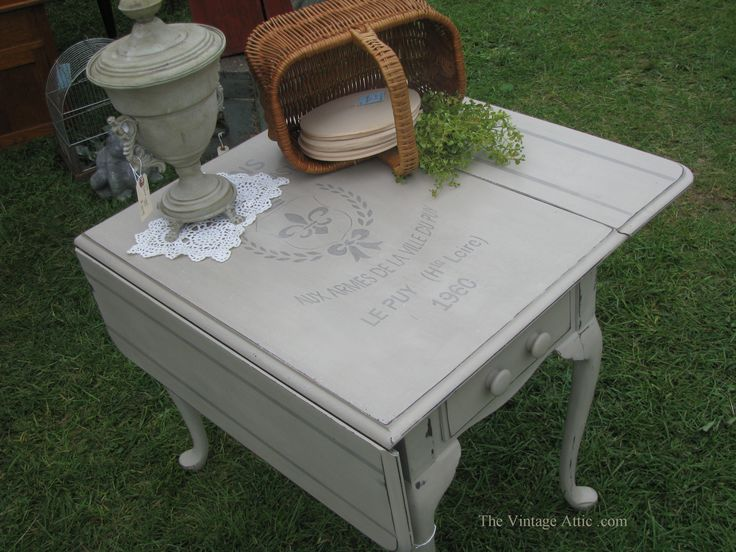 Painted with CeCe Caldwell's Paints in Young Kansas Wheat, sealed with Clear Wax.