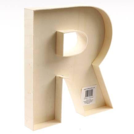 22 Cm Wooden Fillable Letter R | Hobbycraft