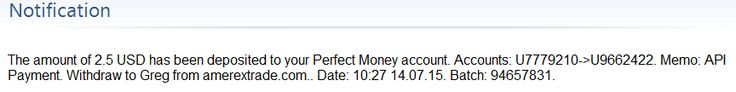 Received payments on 14/07/2015