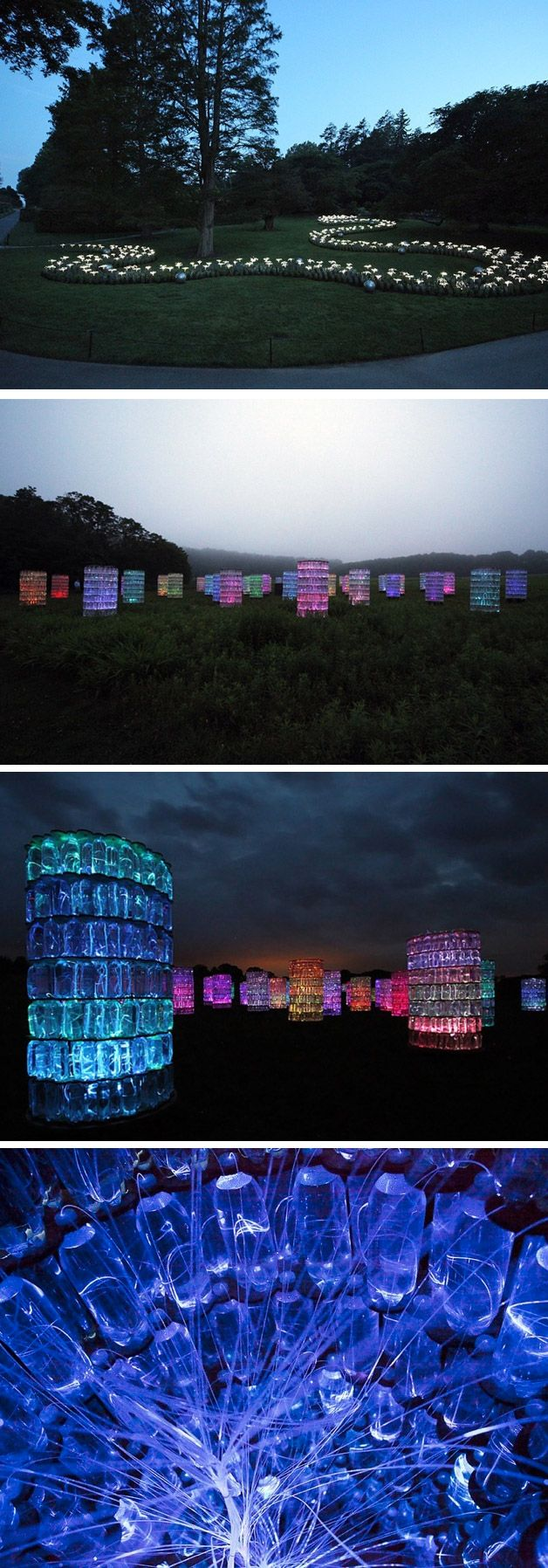 Instalação luminosa em Longwood Gardens, na Pensilvânia