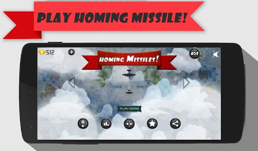 Homing Missiles! Hey Guys,  I have made this game Homing Missiles! myself and uploaded it to play store account Absolute Zero Inc. please download, enjoy and tell me if there are any bugs or anything. Here's the link https://play.google.com/store/apps/details?id=com.absolutezero.homingmissile  P.S. and also Rate, Share and Review.  Thanks.