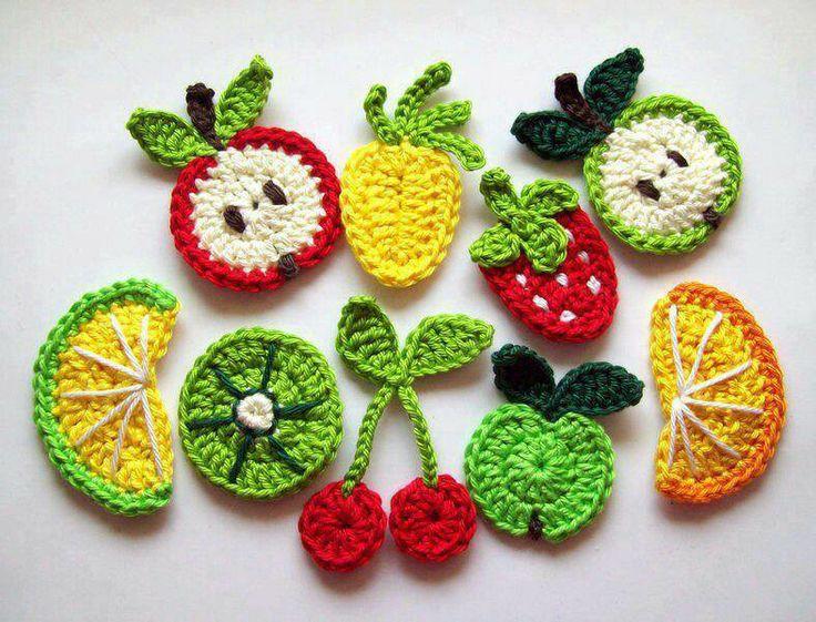 Mini frutas crochet
