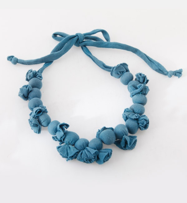 Blue beaded neck piece