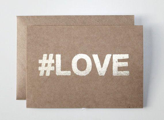 hashtag card series. (love)