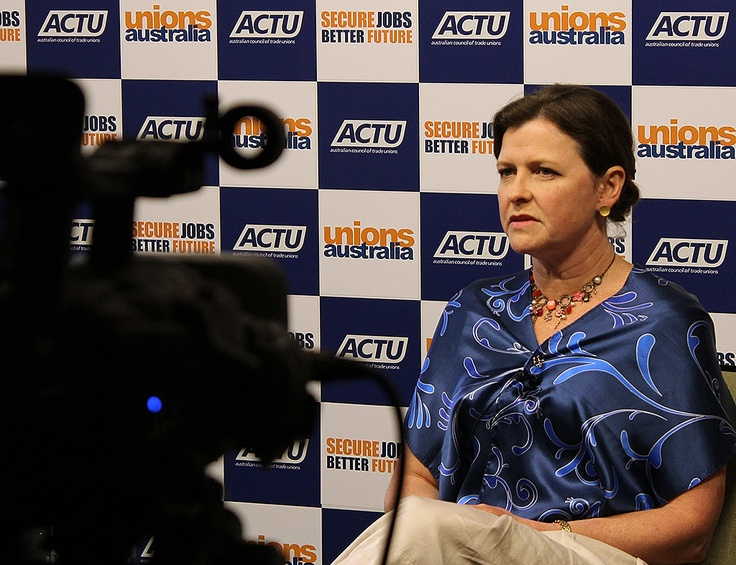 Here's ACTU President Ged Kearney giving a press conference after the date for this year's election was announced by the Prime Minister. Read more at http://www.actu.org.au/Media/Mediareleases/Jobandincomesecuritywillbethekeyelectionissueforworkingpeople.aspx