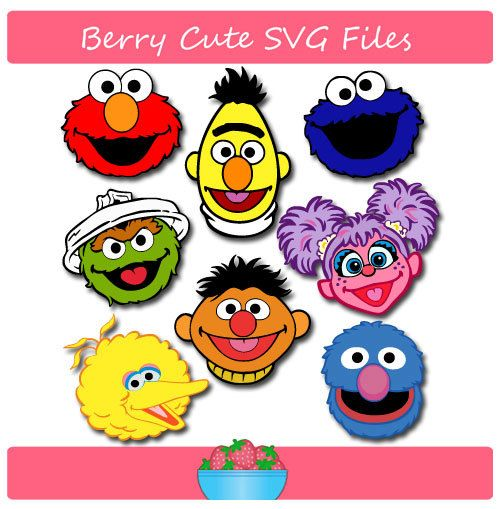 Sesame Street Set Svg File By Berrycutesvgfiles On Etsy