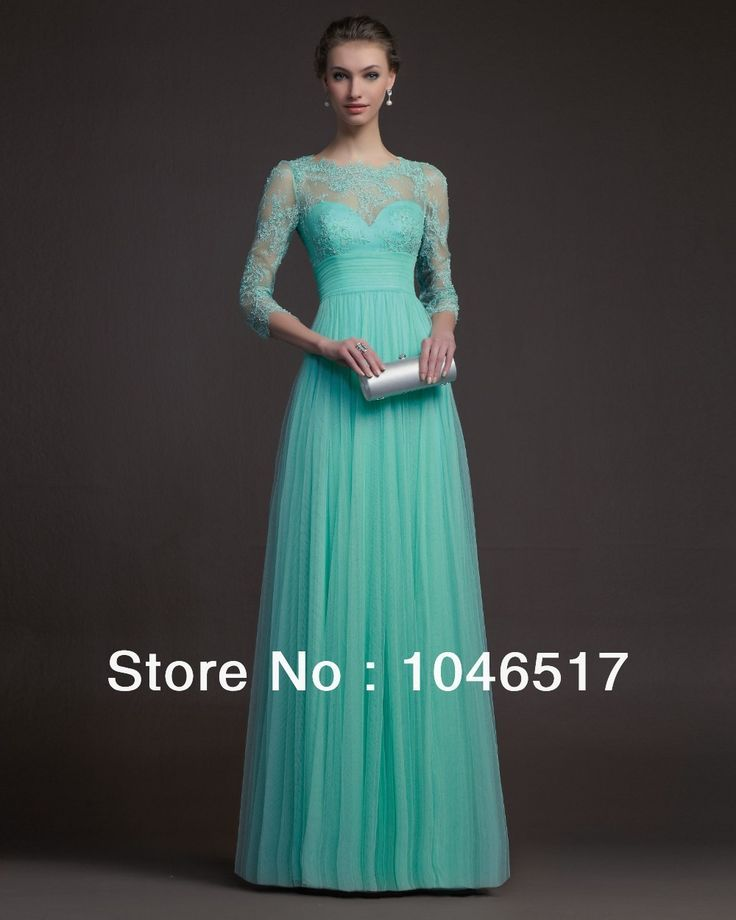 Cool Cocktail Dresses Free Shipping Turquoise Tulle Long Elegant Lace Evening Dress With Sleeves Prom ... Check more at http://24store.ml/fashion/cocktail-dresses-free-shipping-turquoise-tulle-long-elegant-lace-evening-dress-with-sleeves-prom/