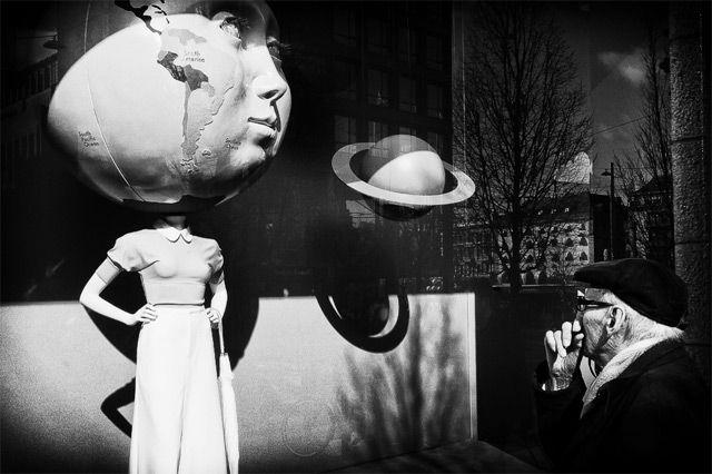 My head is a globe!   From photographer Nils Erik Larson