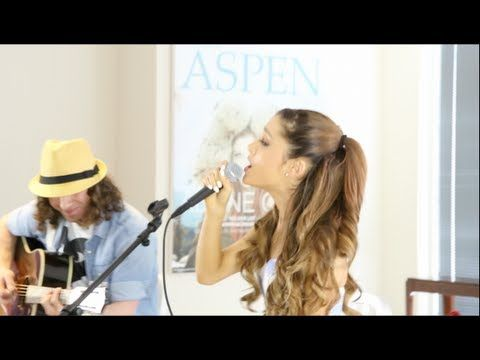 Ariana Grande - The Way & Baby I acoustic with Dan Kanter.....NO AUTOTUNE NEEDED. SHE HAS SUCH AMAZING TALENT<3