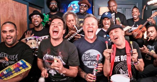VIDEO: #Metallica hace divertida versión de 'Enter Sandman', con Jimmy #Fallon - http://www.infouno.cl/video-metallica-hace-divertida-version-de-enter-sandman-con-jimmy-fallon/
