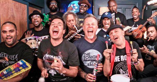 VIDEO: #Metallica hace divertida versión de 'Enter Sandman', con Jimmy #Fallon - http://www.infouno.cl/video-metallica-hace-divertida-version-de-enter-sandman-con-jimmy-fallon/