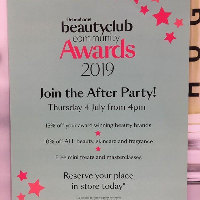 13 New Debenhams Beauty Card Birthday Image Fragrance Free Products Birthday Images Award Winning Beauty