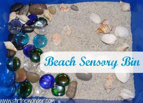 Beach Sensory Bin from Stir the Wonder