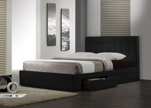 Save on the Barbados Double Bed in Black and a wide range of United Furniture products at Beds Online