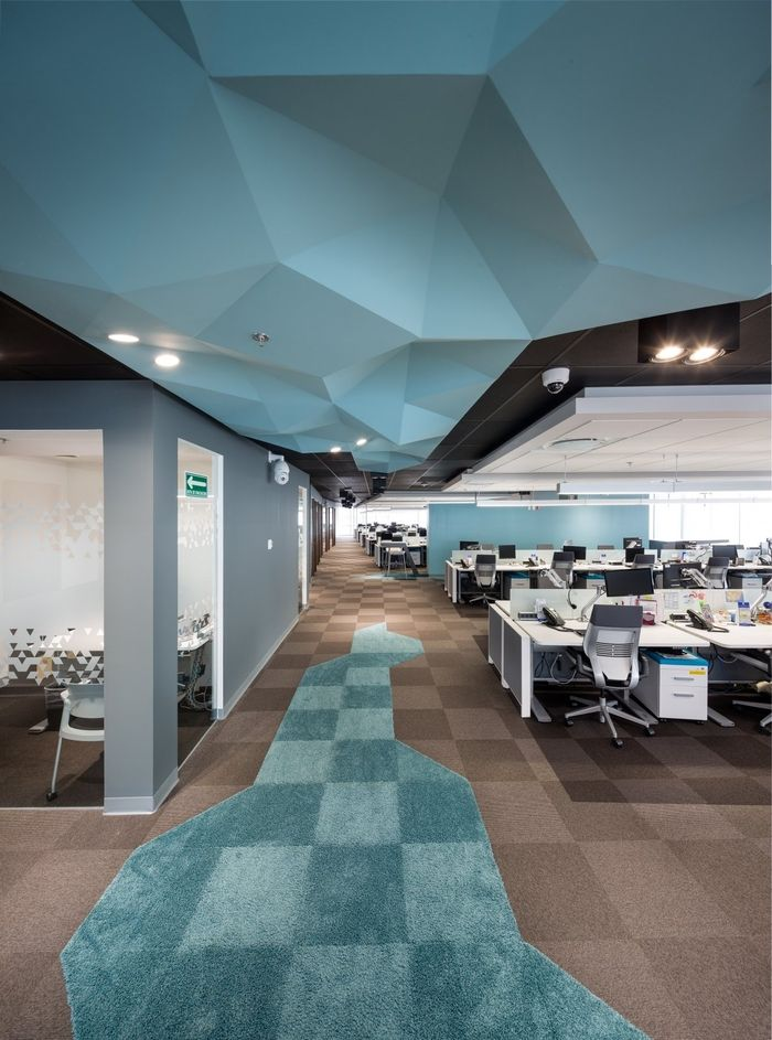 Geodis Offices - Mexico City - Office Snapshots -  Interface - Touch and Tones - Scandinavian - Biophilic Design - Blue