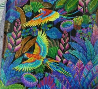 Parrot And Jungle Inspirational Coloring Pages