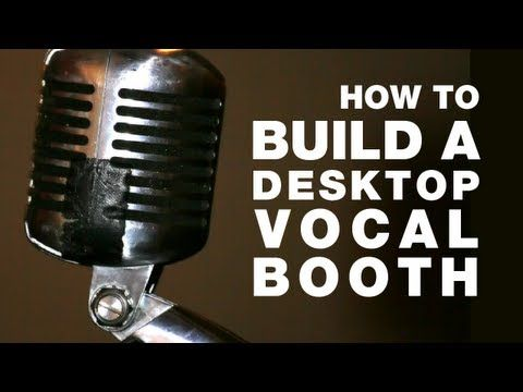 DIY tutorial on how to build a $38 microphone isolation booth for recording voice over and singing in your home recording studio. Do it yourself, with no power tools!    Does your microphone pick up all kinds of noise when you're recording vocals? Nasty room echo ruining your masterpiece? You need a desktop isolation booth, so you can enjoy some p...