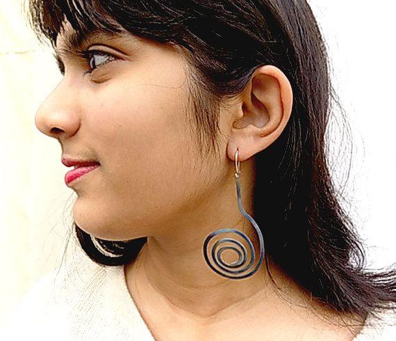 titanium earringsblue earringsfor herlight earrings by atermono