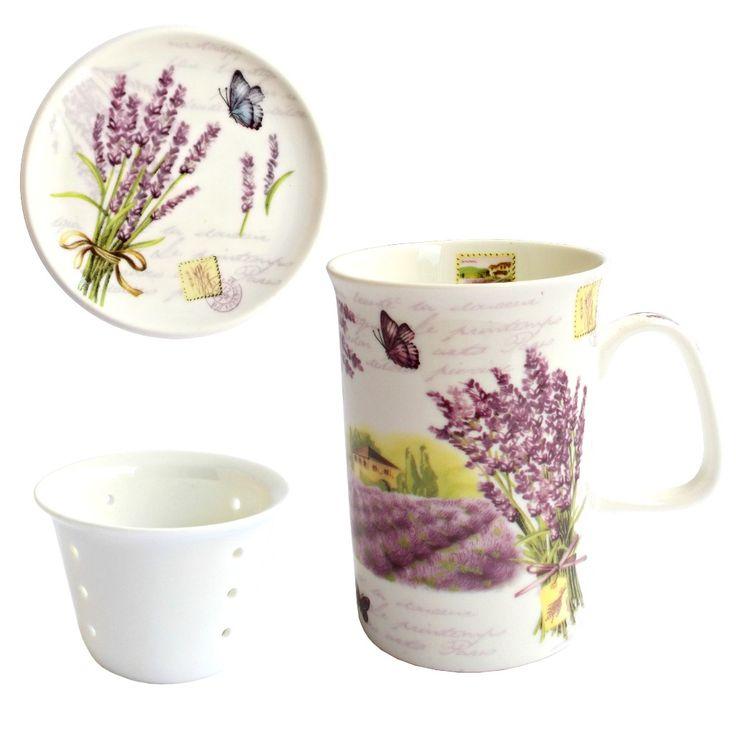 """Lasa-ti simturile sa zboare ca intr-un camp cu lavanda, relaxant si parfumat, cu aceasta delicata cana pentru ceai """"Nature Lavender"""""""