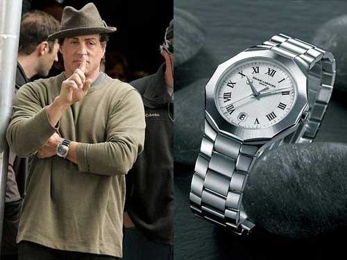 Rambo wouldn 39 t want to wear this men 39 s watch in the jungle but sylvester stallone does check for Celebrity wearing panerai