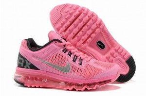 Nike Air Max 2013 dame løbesko rosa sølv sort Danmark tilbud