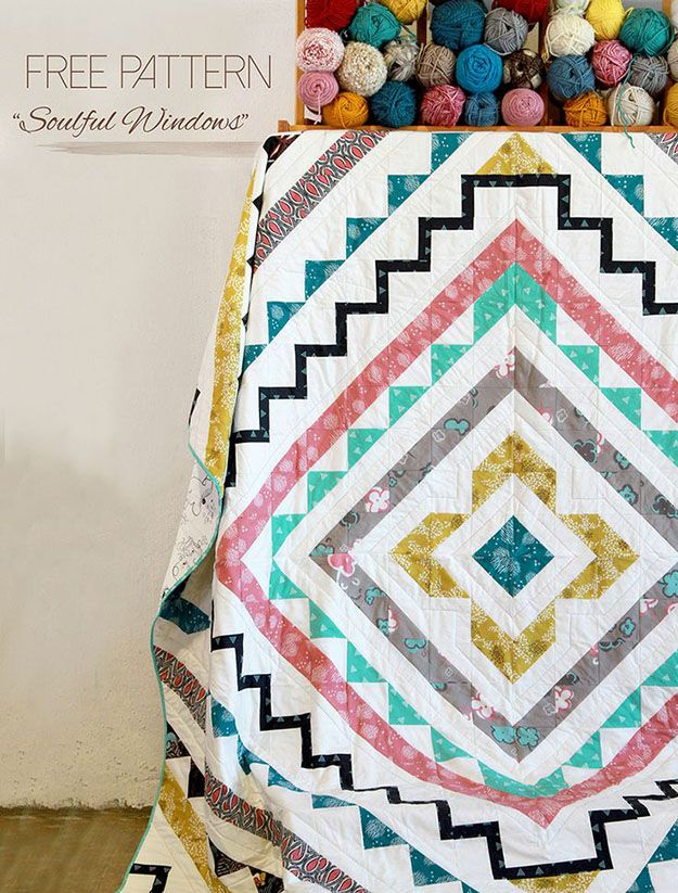 Free Sewing Patterns | DIY Room Decor Ideas | Geometric Quilt Tutorial | DIY Projects & Crafts by DIY JOY