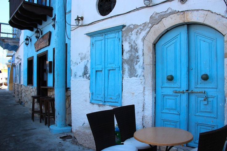 The picturesque Greek island of Meis/ Kastellorizo. The penchant for blue reminds me a little of Chefchaouen. http://gallivantgirl.com