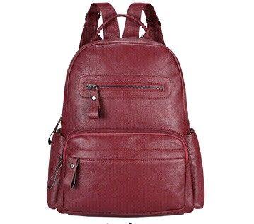 Leather Backpack Women Bags Preppy Style Backpack Girls School Bags Zipper Shoulder Women's Back Pack