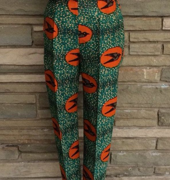Ankara Women Trousers, Ankara Pants, African print pants, african clothing, women pants, high waist pants, Ankara trousers, by AfrowearHouse on Etsy